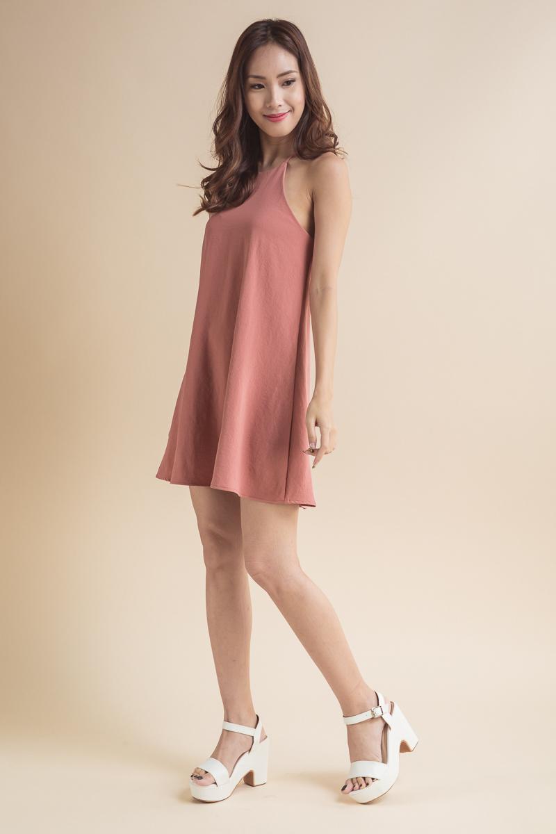 0b6cc3a512c1 Trapeze Tunic Dress (Rose Pink)