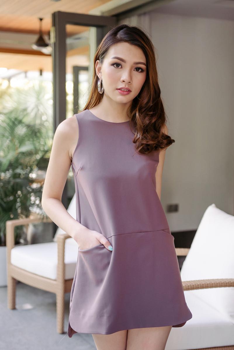 666a9a2885a0 Pocket Front Shift Dress (Orchid)