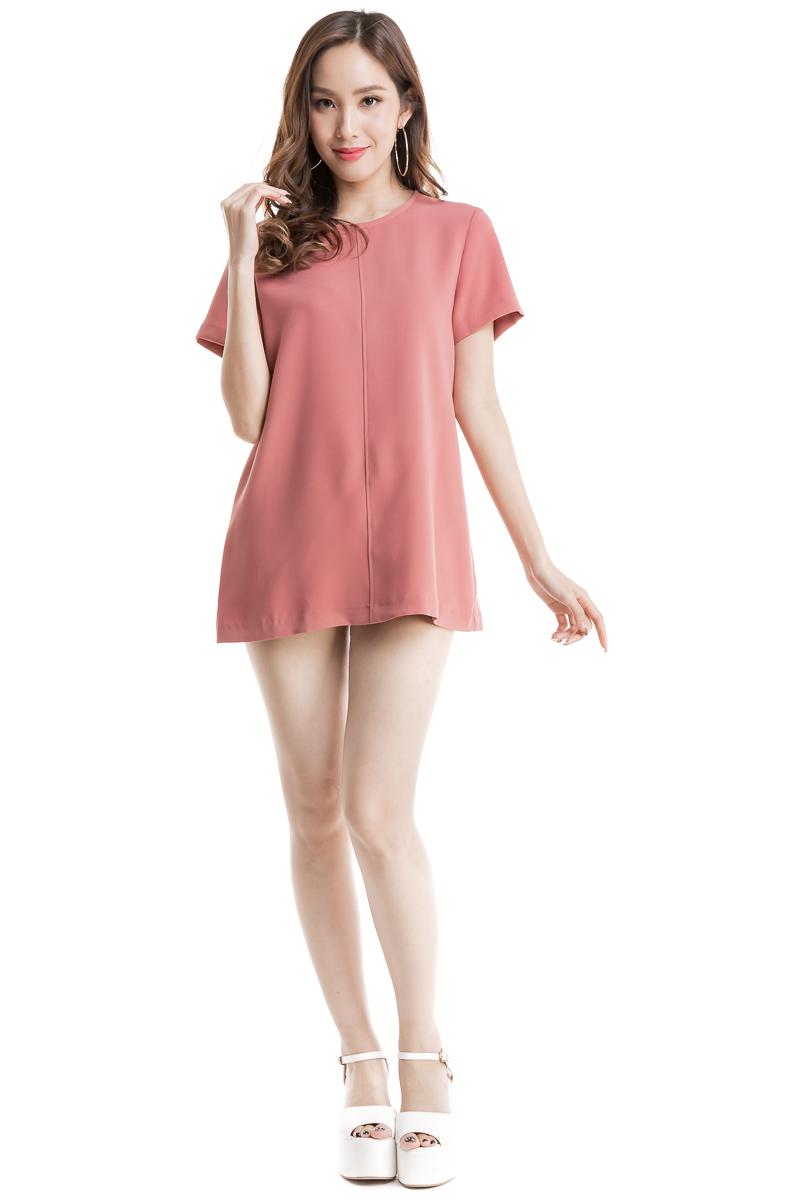 57ee5af02454 Basic Detail Top (Peach Pink)