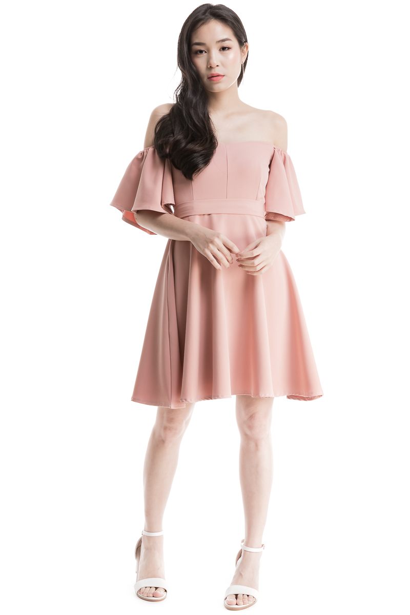 a2ab4c5f8f39 Sweetheart Offsie Dress (Dusty Pink)