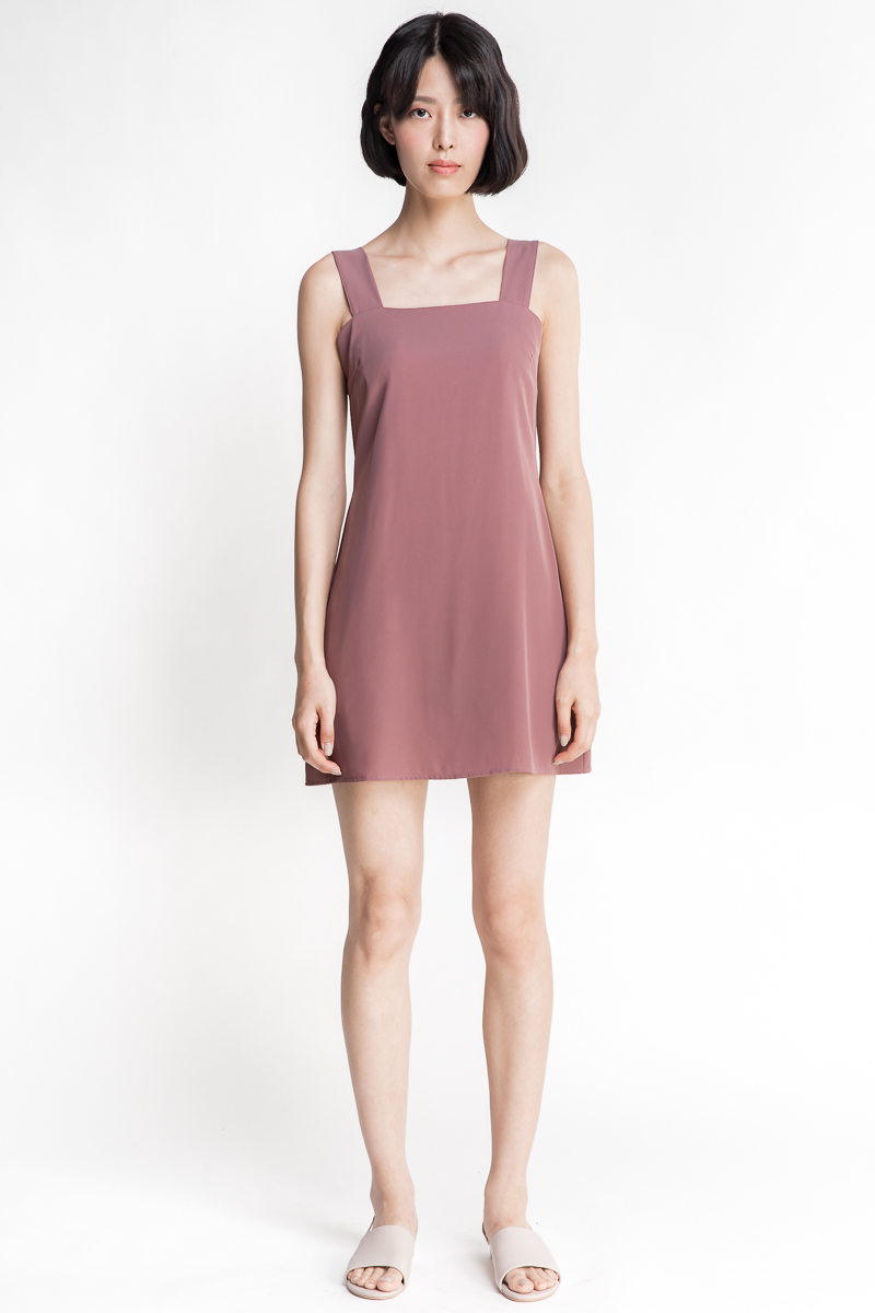 0ae19f8f0533 Basic Pocket Dress (Mauve)