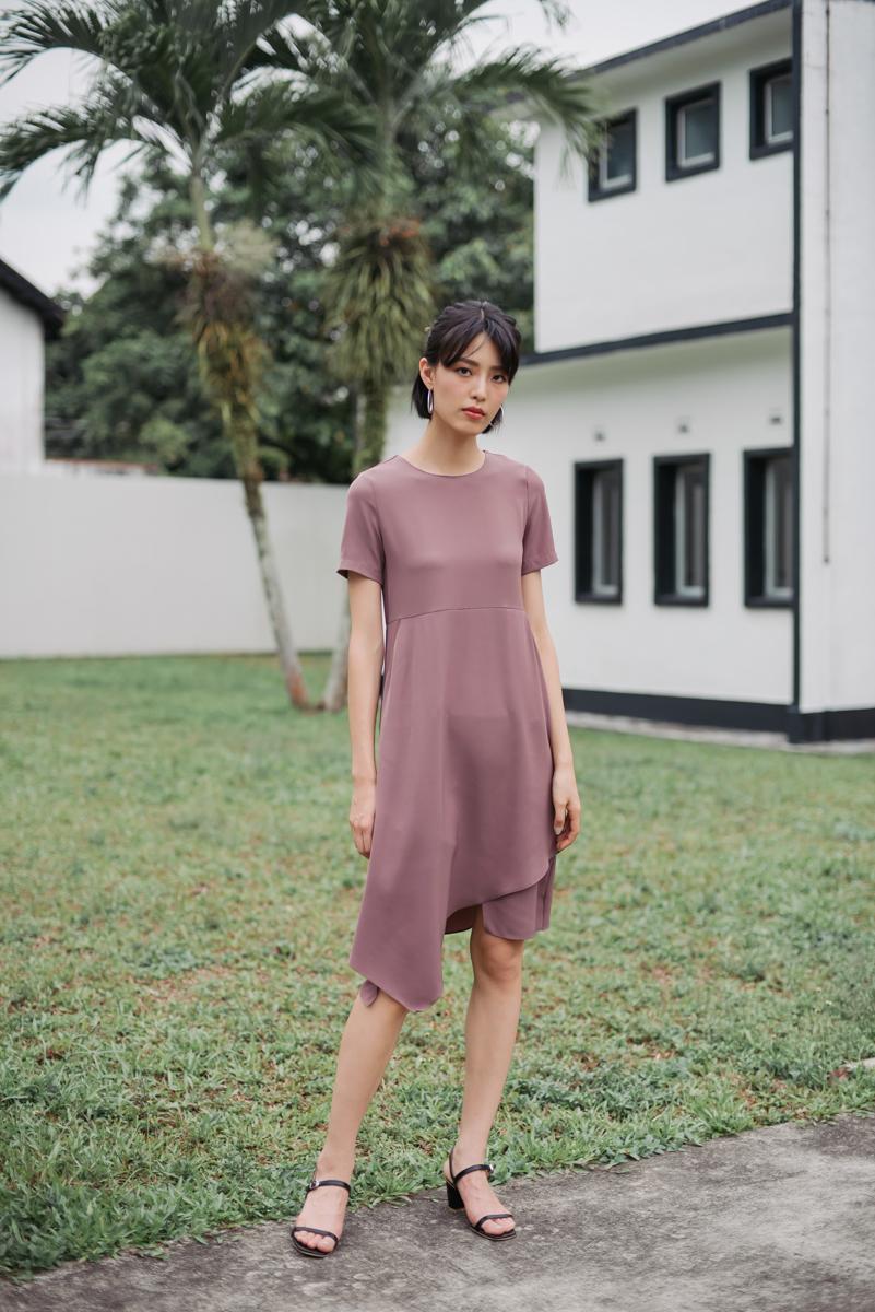 cb61ffb1162a Asymmetric Pocket Dress (Mauve)
